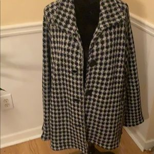 Coldwater Creek Houndstooth Sweater Jacket